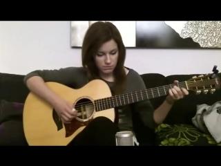 Gabriella Quevedo! Очень красивая мелодия! Техника игры на гитаре медиатор-ноготь!