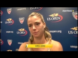 US Open-2015. Интервью Камилы Джорджи после победы в первом круге над Йоханной Ларссон