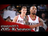 Damian Lillard Full Highlights 2016.01.23 vs Lakers - 36 Pts, 5 Assists, in 3 Quarters!