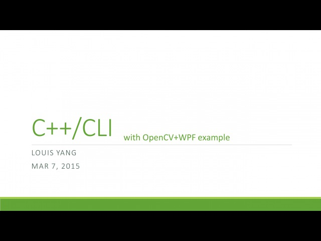 Введение в C/CLI