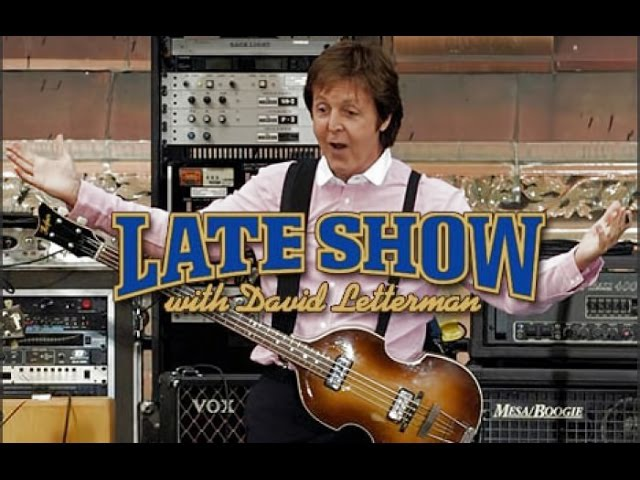 Paul McCartney on David Letterman Show Interview Rooftop Performance