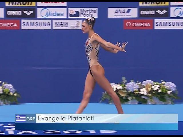 Todo Sincro Evangelia Platanioti. KAZAN 2015 World Championships.