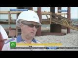 Строительство моста через Керченский пролив идет ударными темпами