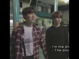 Jhope acting as driver and