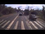 Хотел уйти от столкновения, но не получилось на Егорьевском шоссе 01.09.15.