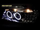 Тюнинг фары Хендай Акцент с ангельскими глазками - Headlights Hyundai Accent