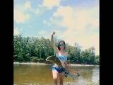 Девушка подстрелила луком огромную рыбину. bowfishing. Боуфишинг. Рыбалка с луком