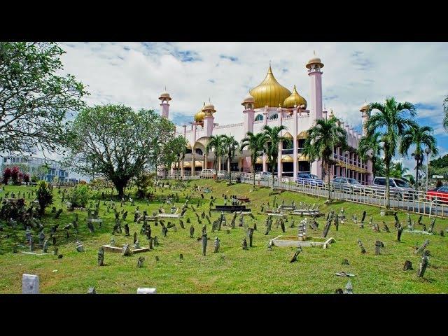 Walking in Kuching Sarawak Malaysia Прогулка по городу Кучинг Саравак Малайзия