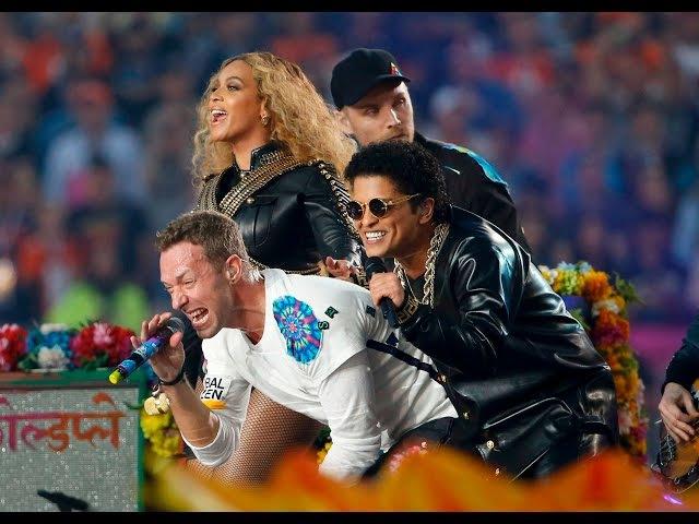 Beyoncé, Brunos Mars et Coldplay ont mis le feu au Super Bowl !