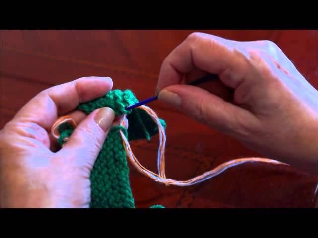 Сшивание вязаного изделия. Вертикальный шов. Вязание швов. (Staple products vertical seam)