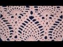 ♥ Узор крючком Ананасы без расширения часть 1 How to crochet pineapple Stitch