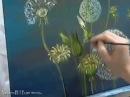Живопись маслом: Одуванчики. (Oil painting: Dandelions).