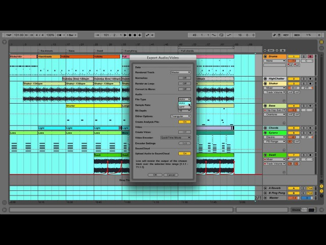 Ableton Live 9 Tutorial - Part 7 Exporting Audio