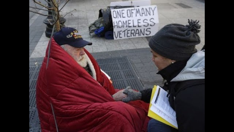 Шокирующая нищета американских ветеранов Schocking beggary of U.S. veterans