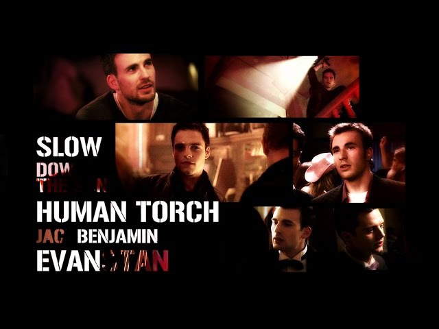 Evanstan:Human Torch(Fantastic Four) x Jack(Kings) slow down the song