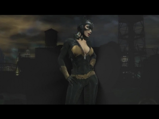 Arkham City - Batgirl Suit On Catwoman