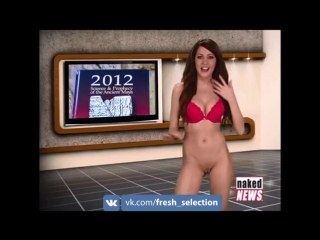 Naked News Compilation - Rachel Simmons takes her clothes off