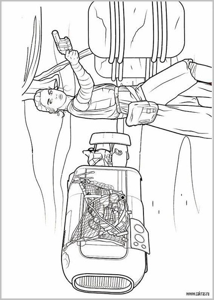 Раскраска Раскраски Звёздные войны: Пробуждение силы скачать