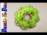 (vk.com/LakomkaVK) Elegant Lacy Christmas Wreath with Royal Icing