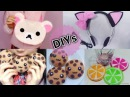 4 Cute DIYs DIY Rilakkuma HandbagCat HeadphoneLemon Cup CoasterChocolate Cookie Toy