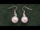 Beading4perfectionists Classy stunning easy to make pearl earrings beading tutorial