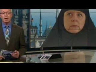 Немецкий телеканал изобразил Меркель в хиджабе