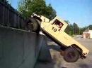 Humvee Climbing Vertical Wall