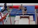 Спортивная гимнастика. Сергеева Александра 8 лет.
