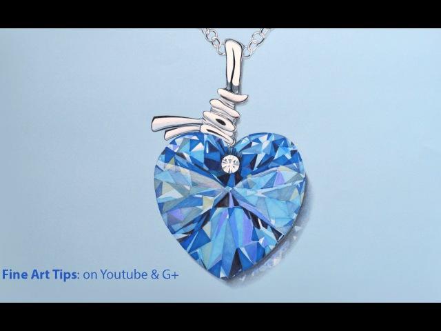 How to Draw a Swarovski Crystal Heart - Best Saint Valentine's Gift - Glass
