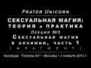 Сексуальная магия, лекция №5. Сексуальная магия в алхимии, часть 1 /демо/ 2013.11.03