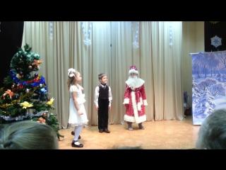 дебют Вари в театре: «Новогодние приключения Маши и Вити».1
