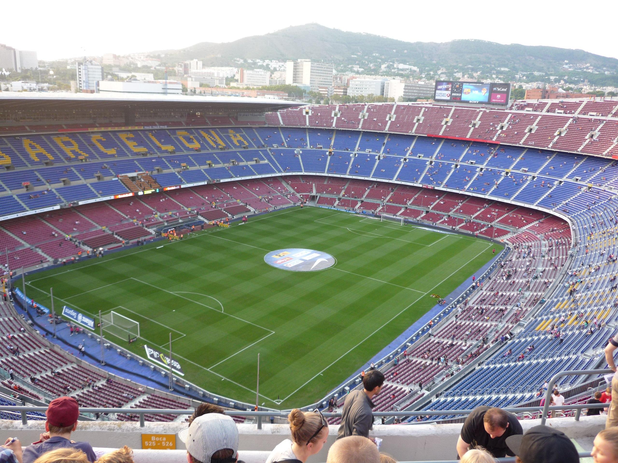 Стадион Камп Ноу (Camp Nou). Барселона, Италия.
