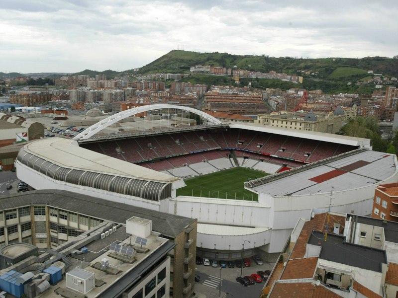 Стадион Сан-Мамес (Estadio San Mames). Бильбао, Испания.