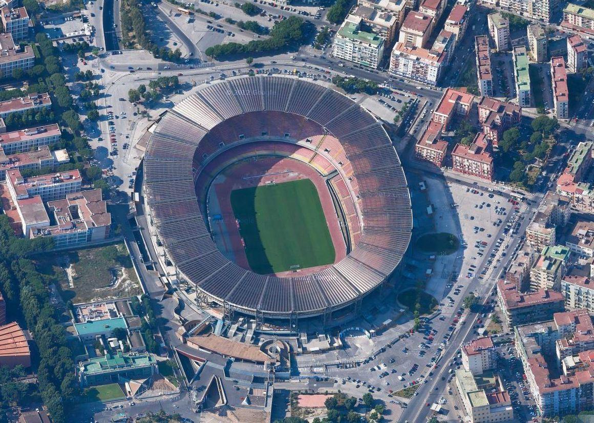 Стадион Сан-Паоло (Stadio San Paolo). Неаполь, Италия.