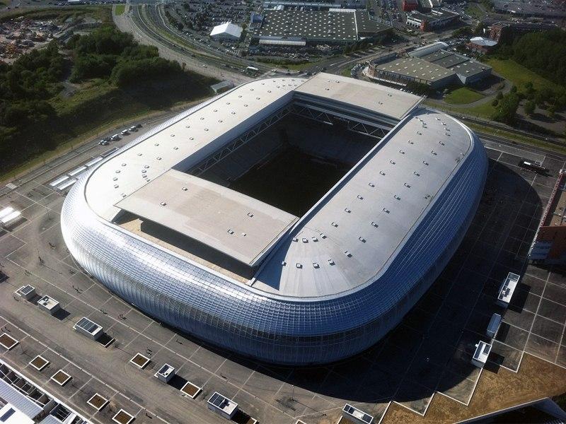 Стадион Гран Стад Лилль Метрополь (Grand Stade Lille Metropole). Вильнёв д'Аске, Франция.