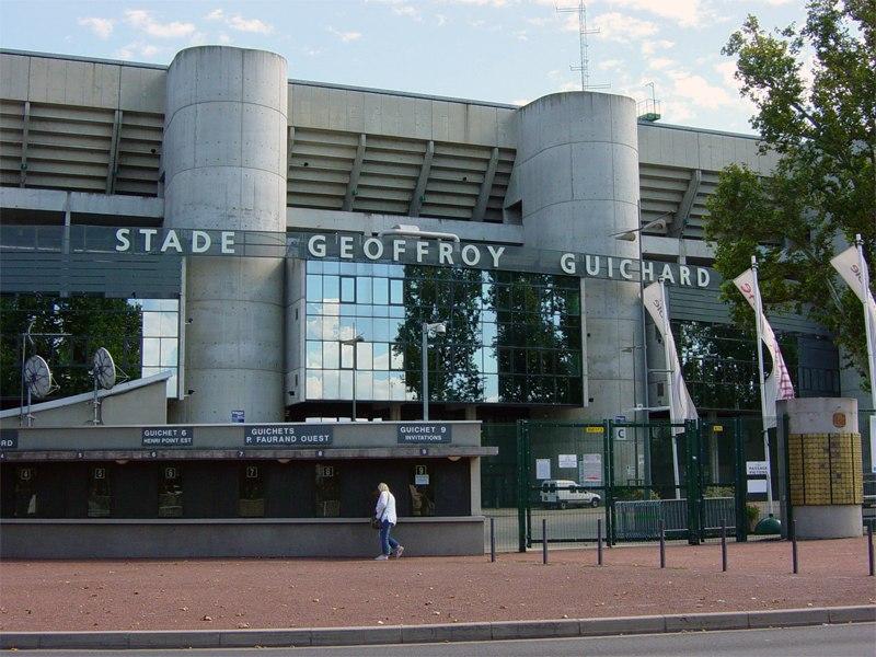 Стадион Жоффруа Гишар (Stade Geoffroy-Guichard). Сент-Этьен, Франция.