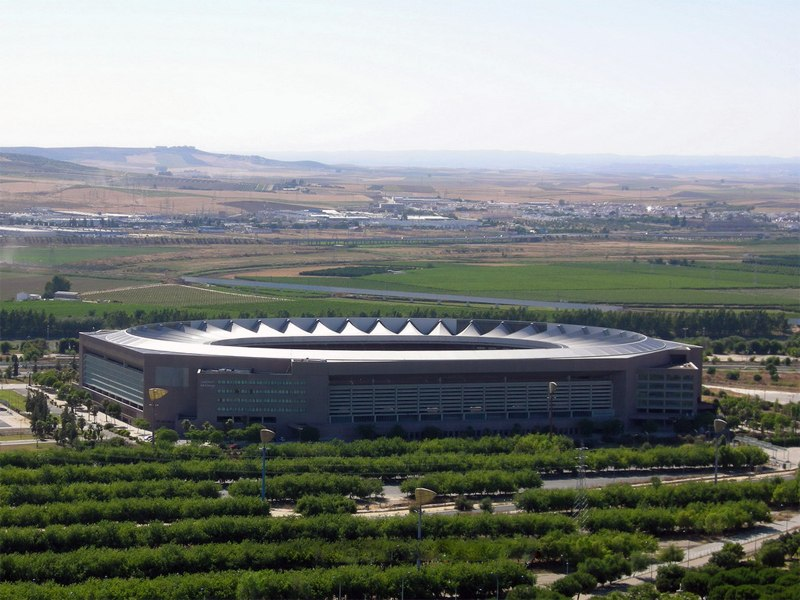 Олимпийский стадион (Estadio Olimpico de la Cartuja). Севилья, Испания.