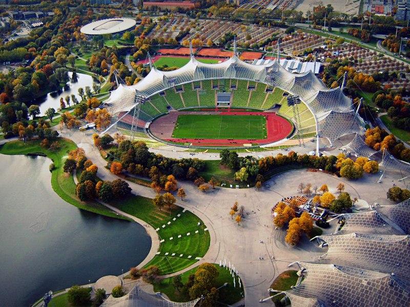 Олимпийский стадион (Olympiastadion Munich). Мюнхен, Германия.