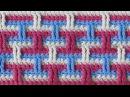 Трёхцветный узор Вязание крючком Crochet pattern 55