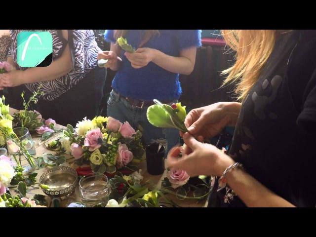 Создаем венок из цветов - для начинающих флористов от Школы Декора Мехедовой
