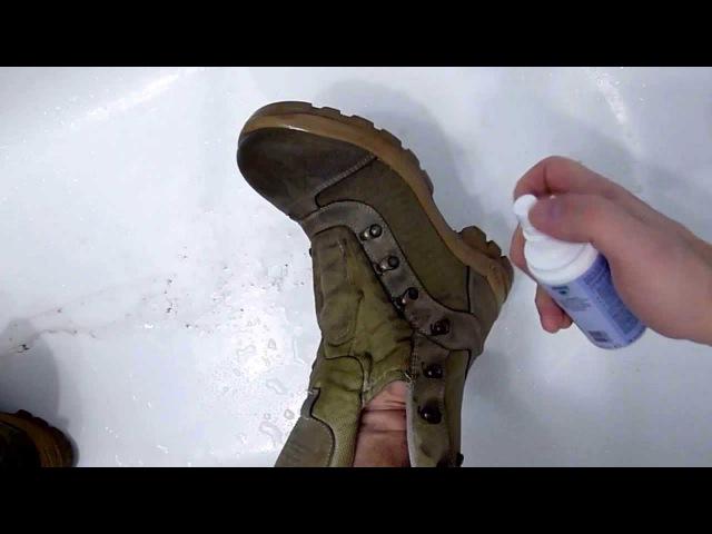 Придание водоотталкивающих свойств обуви Nikwax Footwear Cleaning GelFabric Leather Proof.