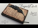 Paper Quill Journal Cover - polymer clay TUTORIAL