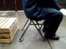 Рыбацкий стул жосткий регулируемый для фидерной ловли