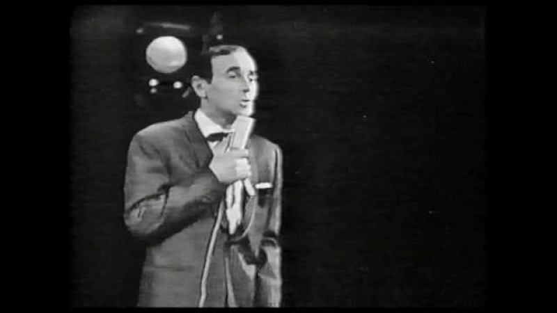 Charles Aznavour Live in Holland 1963 Je t'attends