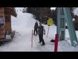 Funny ski lift fail on a snowboard (ORIGINAL)