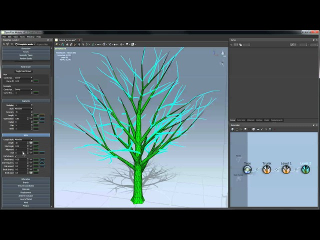 SpeedTree Tutorial Using Curves in the Modeler