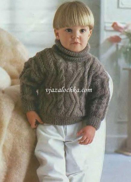 Вязаный свитер на мальчика (3 фото) - картинка