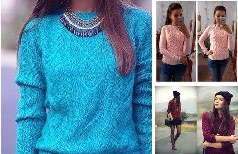 Модный пуловер (4 фото) - картинка
