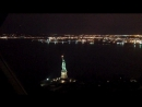 ( February 2014) Night Flight over NYC and  Mahnattann over The Green Lady