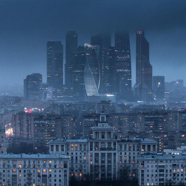 Вид на Москву с гостиницы «Белград»